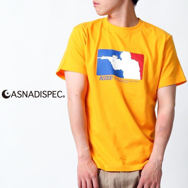 ASNADISPEC Tシャツ メンズ 半袖 ティーシャツ TEE アスナディスペック タギング プリント ブランド 人気 B系アメカジ ストリート おしゃれ かっこいい /3045/ asst2257 | 詳細画像