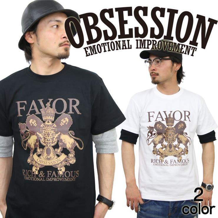 OBSESSION オブセッション 半袖 TEE プリント Tシャツ メンズ 大きいサイズ 人気 ブランド コンフューズ アメカジストリート おしゃれかっこいい /3045/ obst15106 | 詳細画像