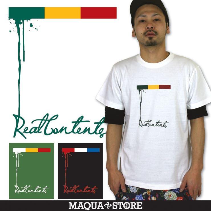 REAL CONTENTS(リアルコンテンツ) メンズ Tシャツ 半袖 服 rcst1213 大きいサイズ 半袖tシャツ ファッション カットソー かっこいい おしゃれ 人気 ストリート系 ブランド 2l 3l xl xxl 白 黒 /3045/ | 詳細画像