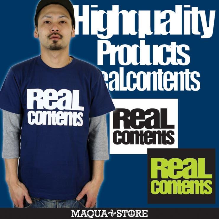 【REALCONTENTS/リアルコンテンツ】BLOCKLOGOTEE/ブロックロゴ柄半袖Tシャツ/3045/ | 詳細画像