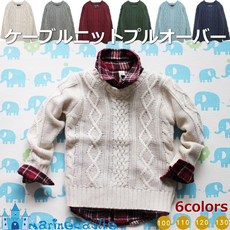 韓国子供服 ケーブルニットプルオーバー(6colors)