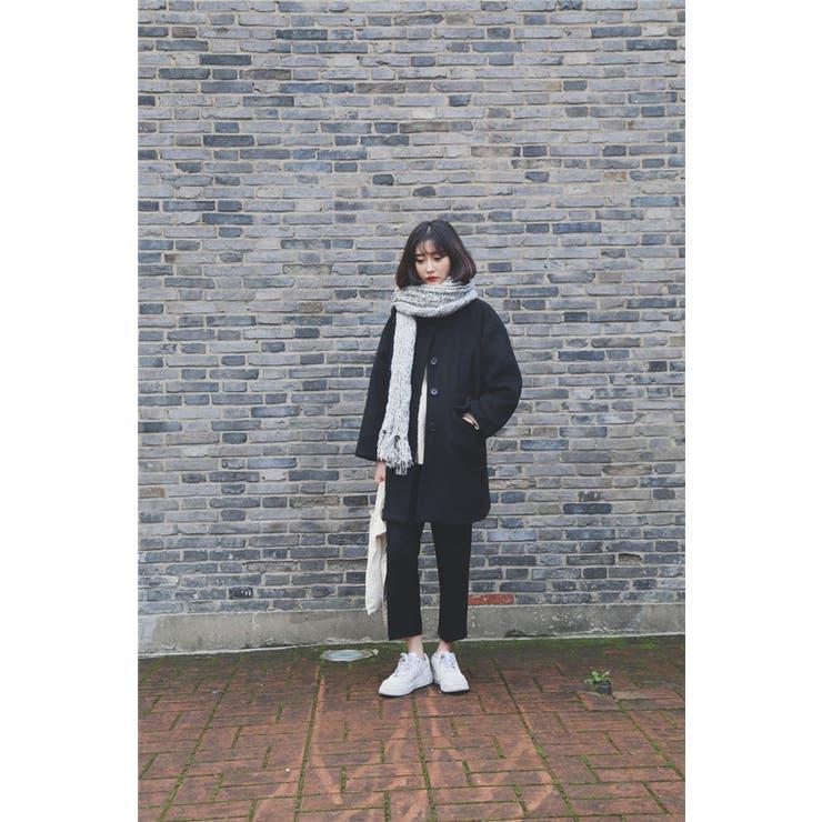 大きいサイズ☆8分袖ハイネックコート F