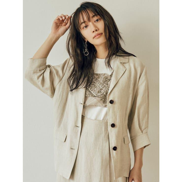 リネン混シャツジャケット | MURUA | 詳細画像1