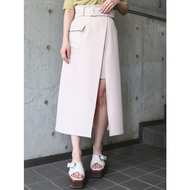 ワイドベルトラップスカート | MURUA | 詳細画像1