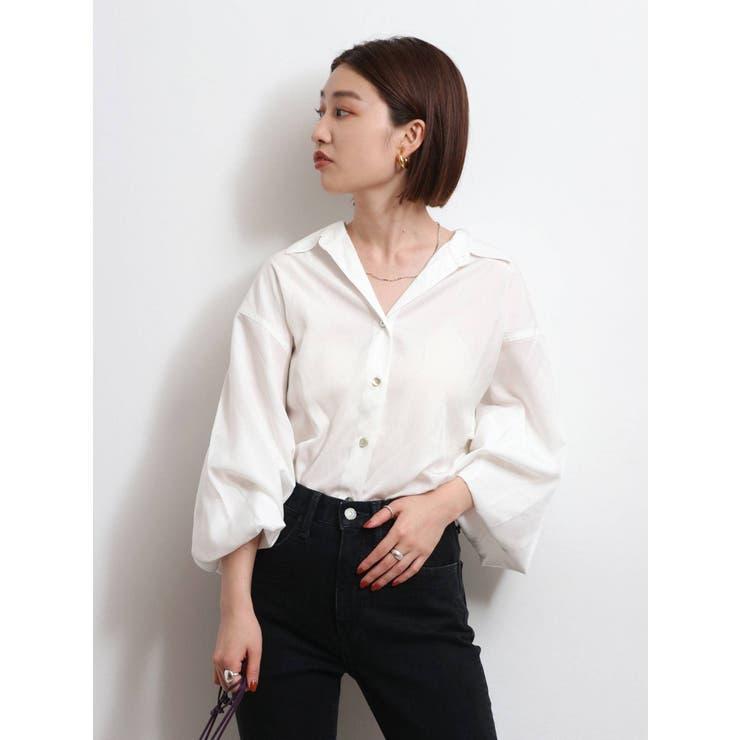 【WEB限定】レーヨン混ルーズシャツ | Ungrid | 詳細画像1