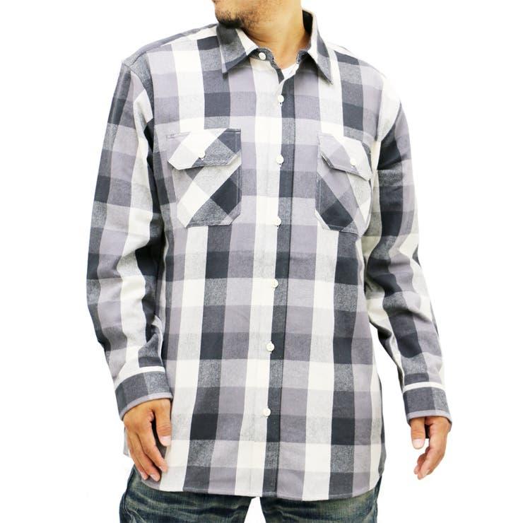 大きいサイズ メンズ シャツ 長袖 cosby【キングサイズ 2L 3L 4L 5L コスビー ブランド チェック 起毛 アメカジカジュアル】