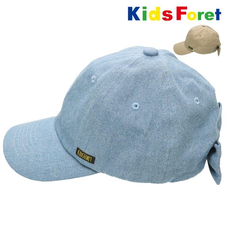【子供服】KidsForet(キッズフォーレ)後ろリボンデニム・ツイルキャップ48cm~56cmB33408 | 詳細画像