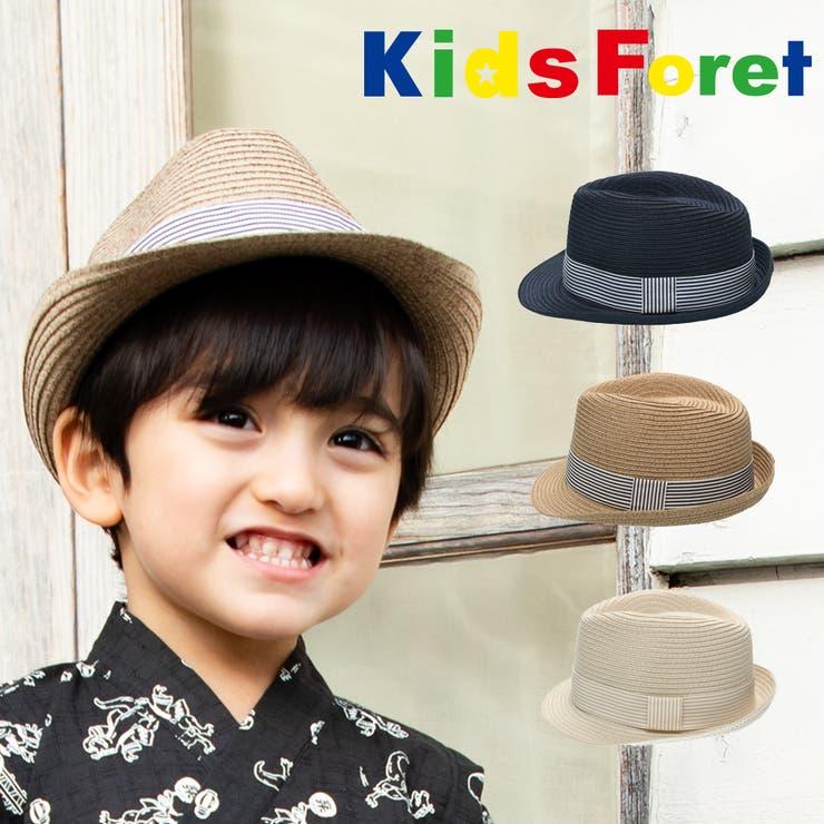 【子供服】KidsForet(キッズフォーレ)洗えるたためる中折れ帽子・ハット48cm~56cmB33421 | 詳細画像