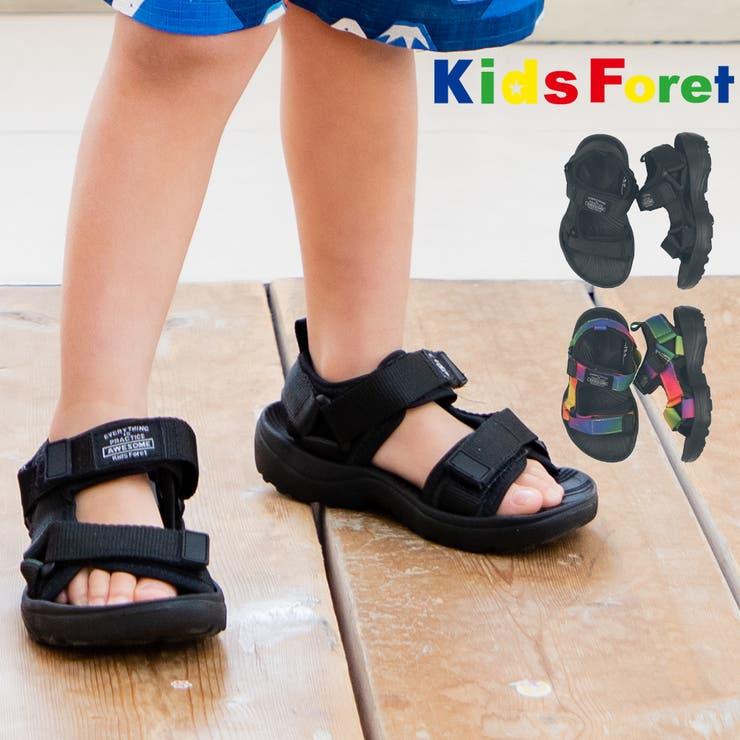 【子供服】KidsForet(キッズフォーレ)スポーツサンダル14cm~19cmB33501 | 詳細画像