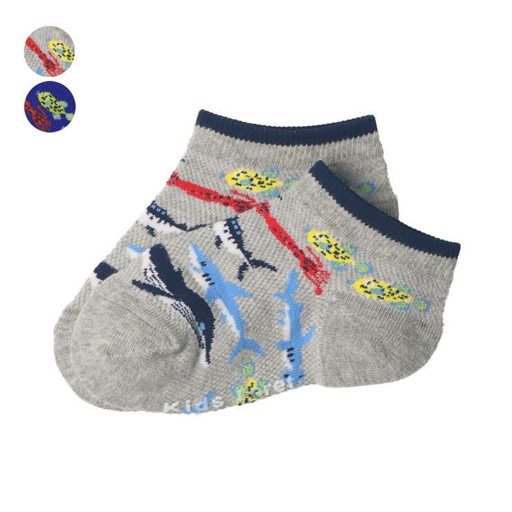 【子供服】KidsForet(キッズフォーレ)海の生き物柄アンクルソックス・靴下11cm~20cmB35304 | 詳細画像
