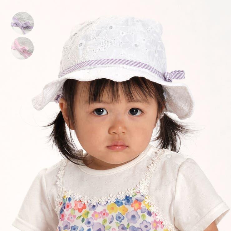 【子供服】KidsForet(キッズフォーレ)耳付き日よけ付帽子・ハット46cm,48cmB35401   詳細画像