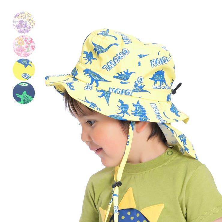 【子供服】KidsForet(キッズフォーレ)撥水小花・恐竜柄ハット・帽子48cm~56cmB35411 | 詳細画像