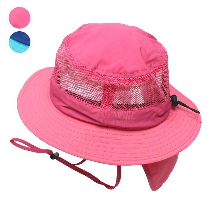 【子供服】KidsForet(キッズフォーレ)撥水メッシュ切替ハット・帽子48cm~56cmB35416   詳細画像