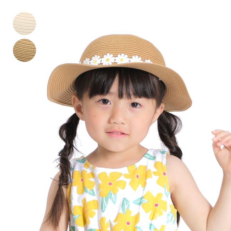 【子供服】KidsForet(キッズフォーレ)洗えるたためるお花レース腰巻ハット・帽子48cm~56cmB35428   詳細画像