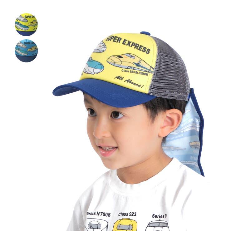 【子供服】HungryHeart(ハングリーハート)JR電車新幹線日よけ付きキャップ・帽子48cm~56cmB35499 | 詳細画像