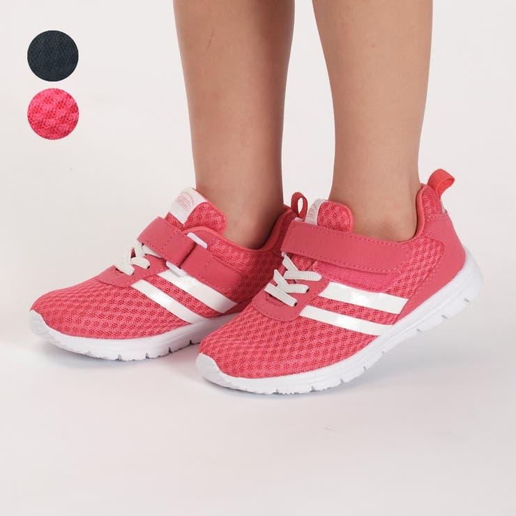 【子供服】KidsForet(キッズフォーレ)メッシュジョギングシューズ・スニーカー・靴15cm~19cmB35500 | 詳細画像