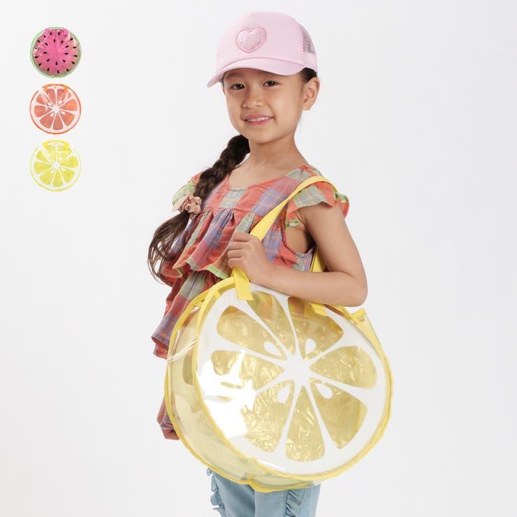 【子供服】KidsForet(キッズフォーレ)スイカ・オレンジ・レモンフルーツプールバッグ・バックB35622 | 詳細画像