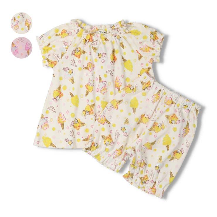 【子供服】KidsForet(キッズフォーレ)アイス柄パジャマ・ルームウェア80cm~140cmB35702 | 詳細画像