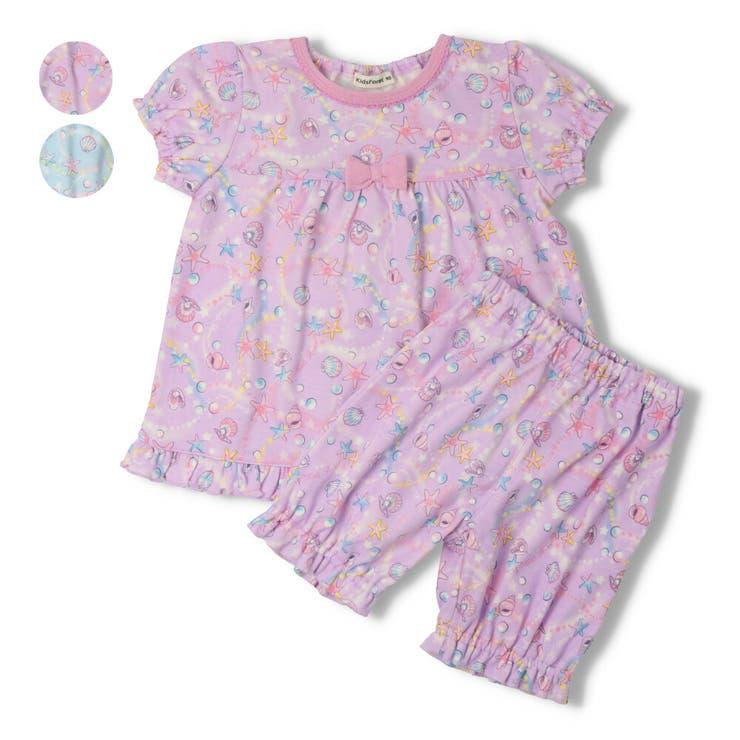 【子供服】KidsForet(キッズフォーレ)シェル柄パジャマ・ルームウェア80cm~140cmB35703 | 詳細画像