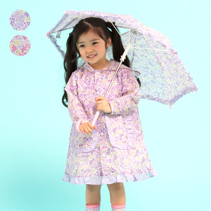 Kids Foret 小花柄傘   こどもの森e-shop   詳細画像1