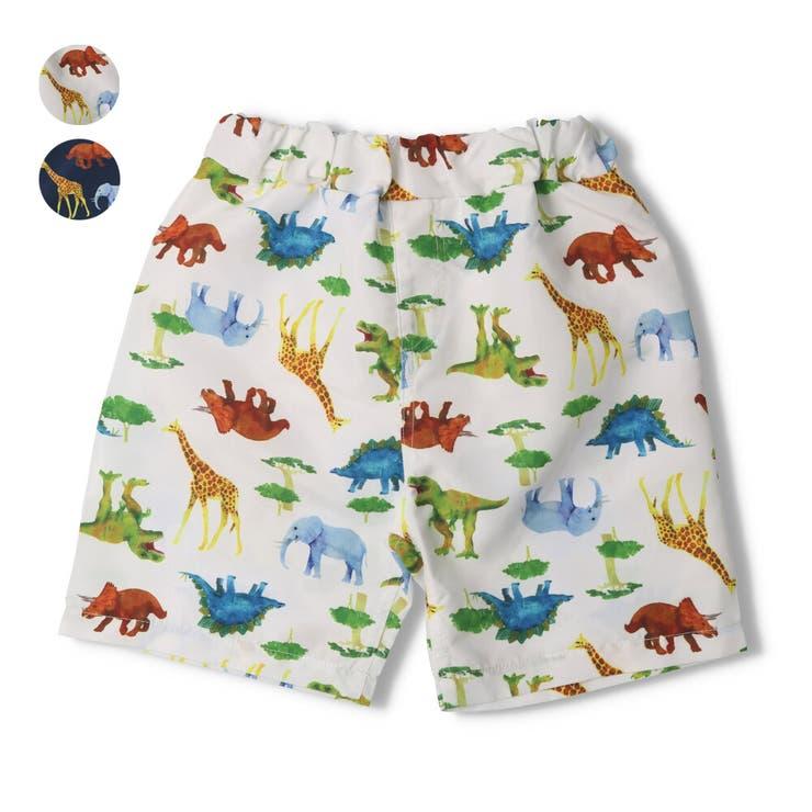 【子供服】KidsForet(キッズフォーレ)動物恐竜柄スイムパンツ・海水パンツ・水着80cm~130cmB35822 | 詳細画像