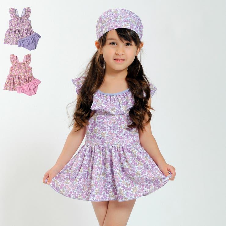 【子供服】KidsForet(キッズフォーレ)小花柄セパレート水着・スイムウェア90cm~130cmB35823 | 詳細画像