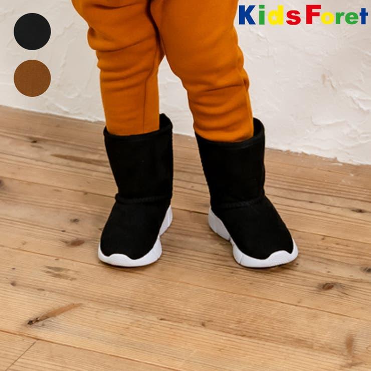 【子供服】KidsForet(キッズフォーレ)撥水加工ムートンスニーカーブーツ15cm~19cmB53506 | 詳細画像