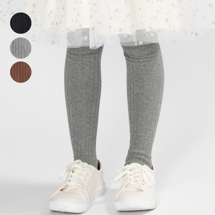 【子供服】KidsForet(キッズフォーレ)リブ編無地タイツ85cm~135cmB53839   詳細画像
