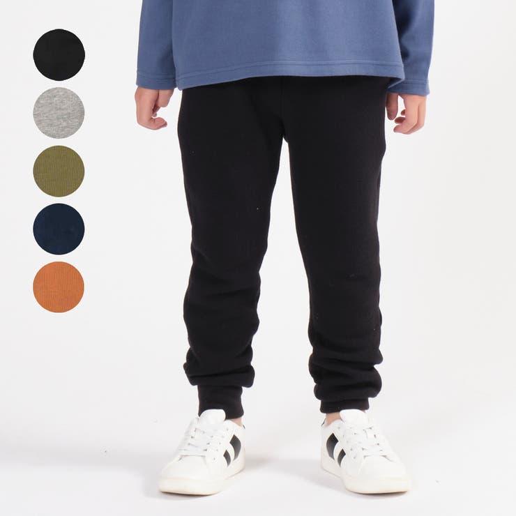 m´ ネット限定日本製ベア裏毛無地裾リブジョガーパンツ キッズ | こどもの森e-shop | 詳細画像1