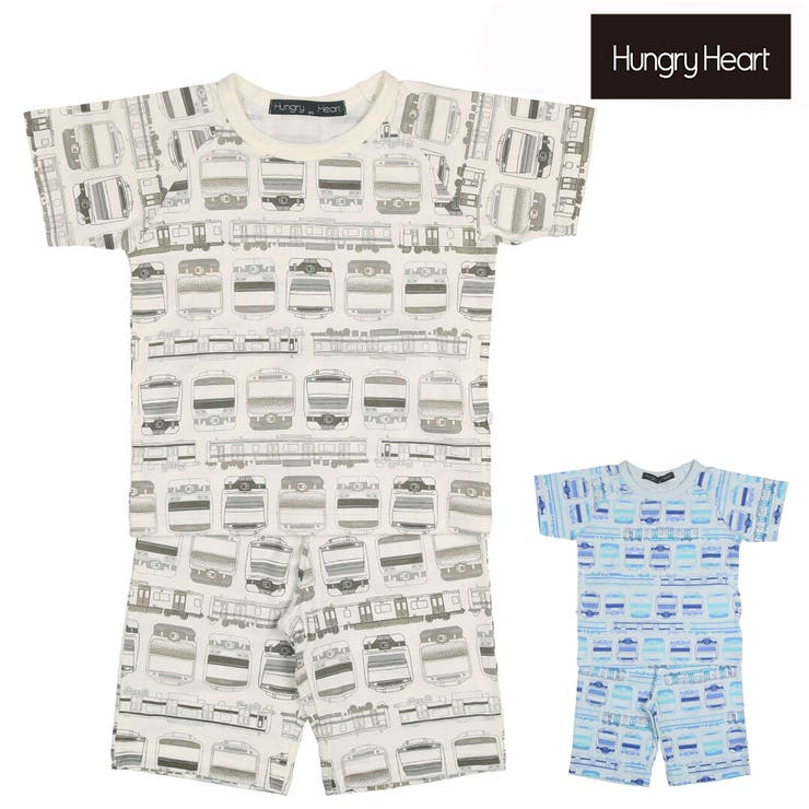 Hungry Heart JR在来線電車柄半袖パジャマ | こどもの森e-shop | 詳細画像1