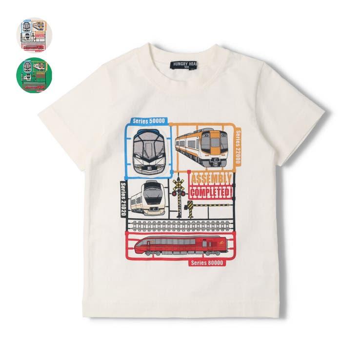 【子供服】HungryHeart(ハングリーハート)近鉄電車プラモデル風Tシャツ90cm~140cmK34811 | 詳細画像