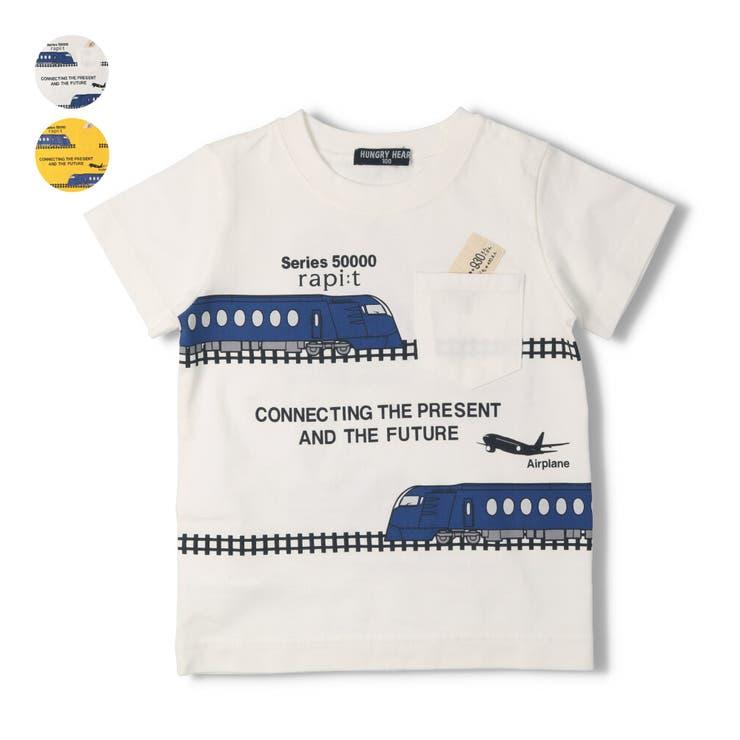 【子供服】HungryHeart(ハングリーハート)ラピート電車つながりプリントTシャツ90cm~130cmK34840 | 詳細画像