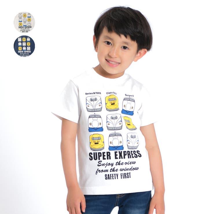 【子供服】HungryHeart(ハングリーハート)新幹線電車プリントTシャツ90cm~130cmK86850 | 詳細画像