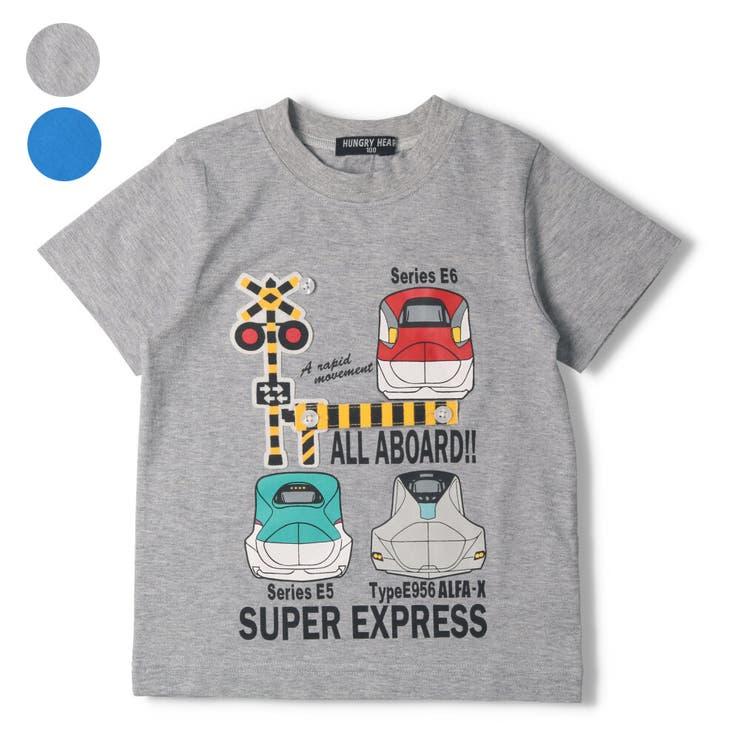 【子供服】HungryHeart(ハングリーハート)新幹線電車遮断機踏切仕掛けTシャツ90cm~130cmK86851 | 詳細画像