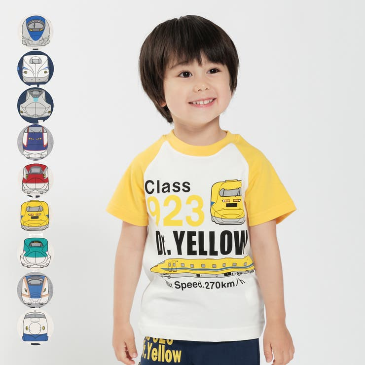 【子供服】HungryHeart(ハングリーハート)新幹線電車プリントTシャツ100cm~130cmK86890 | 詳細画像