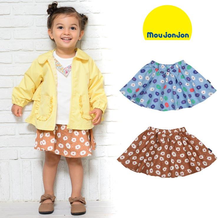 moujonjon ウエストリボンお花柄ブロードフレアースカート S~L | こどもの森e-shop | 詳細画像1
