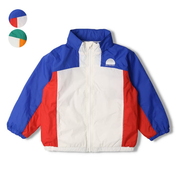 【子供服】moujonjon(ムージョンジョン)タフタ切替フード収納ジャケット90cm~140cmM14120 | 詳細画像
