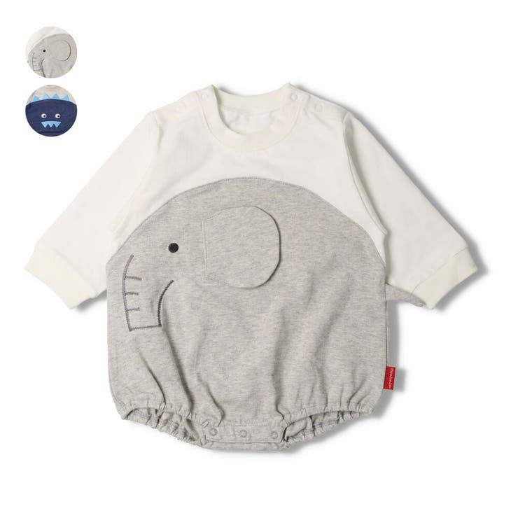 moujonjon ゾウ 恐竜ショートオール   こどもの森e-shop   詳細画像1