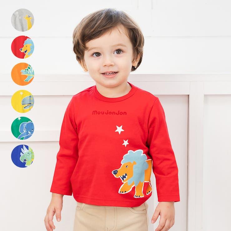 【子供服】moujonjon(ムージョンジョン)日本製動物・恐竜プリントTシャツ80cm~120cmM14822 | 詳細画像