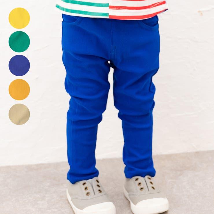【子供服】moujonjon(ムージョンジョン)無地のびのびツイルカラーパンツ90cm~140cmM15020 | 詳細画像
