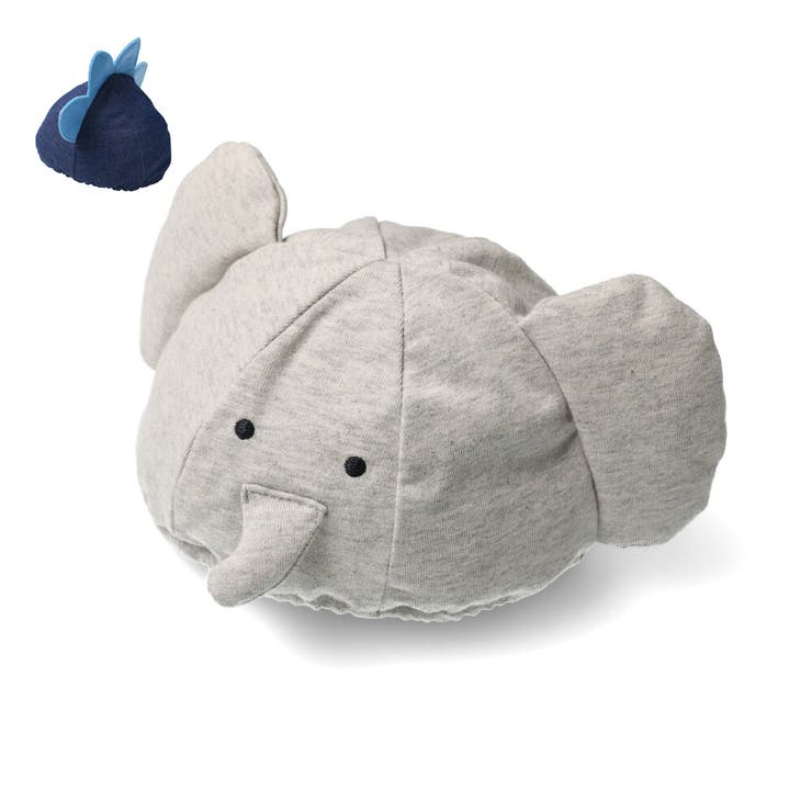 【子供服】moujonjon(ムージョンジョン)ゾウ・恐竜ベビー帽子46cmM15800 | 詳細画像