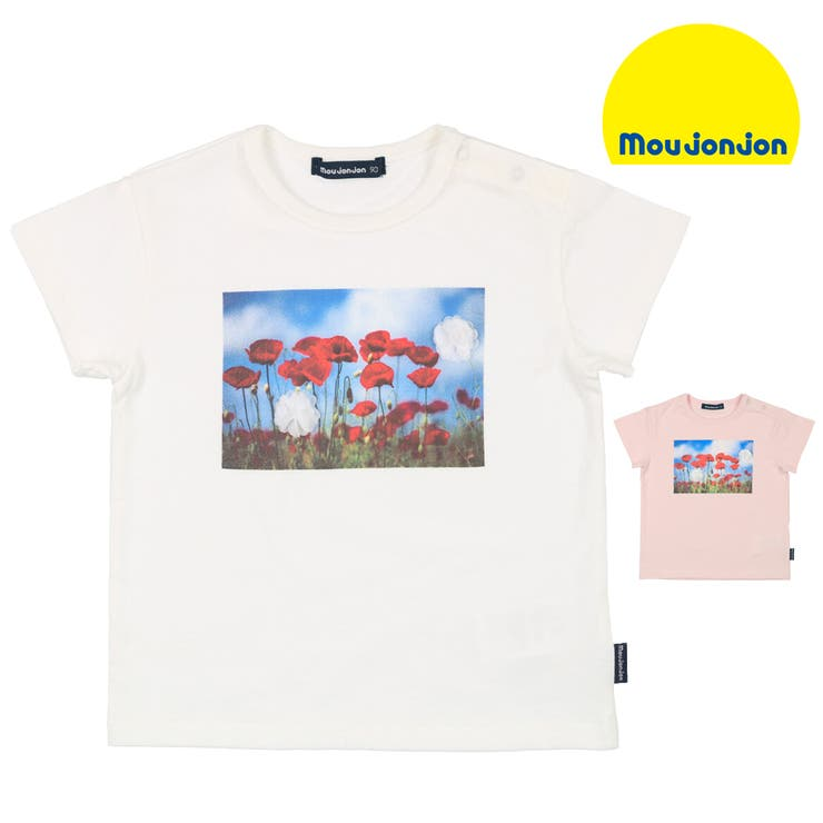 moujonjon 日本製お花フォトプリントTシャツ 80cm~140cm   こどもの森e-shop   詳細画像1