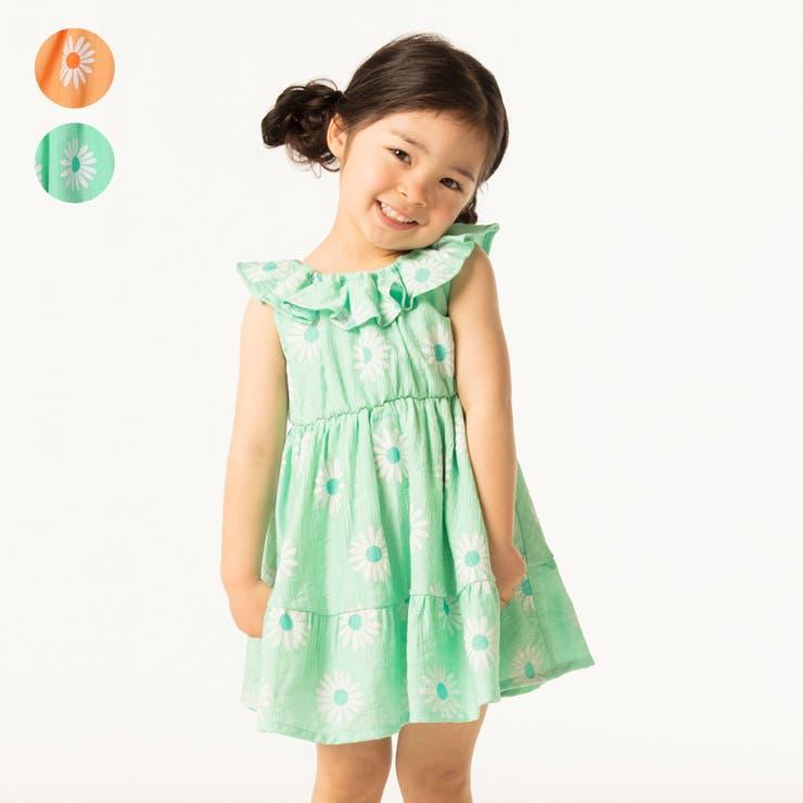 【子供服】moujonjon(ムージョンジョン)マーガレットお花柄ワンピース90cm~140cmM34363 | 詳細画像