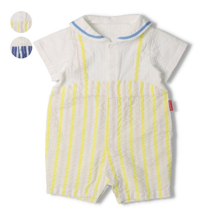 【子供服】moujonjon(ムージョンジョン)セーラーカラーTオール・ロンパース70cm,80cmM34721   詳細画像