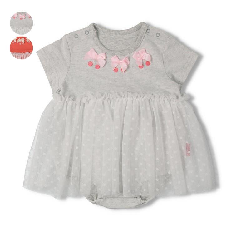 【子供服】moujonjon(ムージョンジョン)チュールスカート付ブルマオール・ロンパース70cm,80cmM34730 | 詳細画像