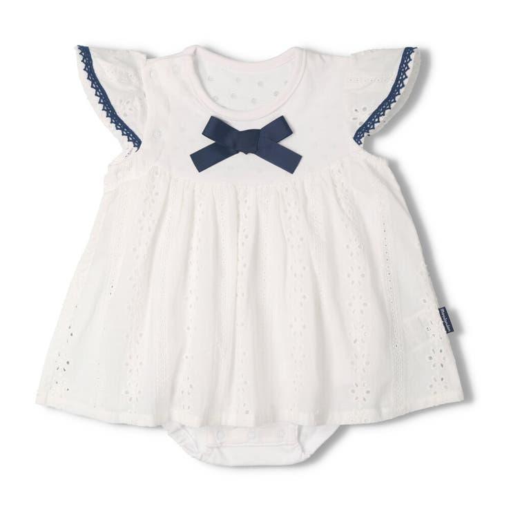 【子供服】moujonjon(ムージョンジョン)レーススカートオール・ロンパース70cm,80cmM34744 | 詳細画像