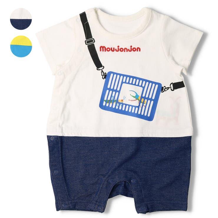 moujonjon 虫かごTシャツ半袖オール ロンパース   こどもの森e-shop   詳細画像1