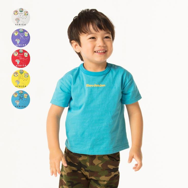 【子供服】moujonjon(ムージョンジョン)日本製動物バックプリントTシャツ80cm~120cmM34823   詳細画像