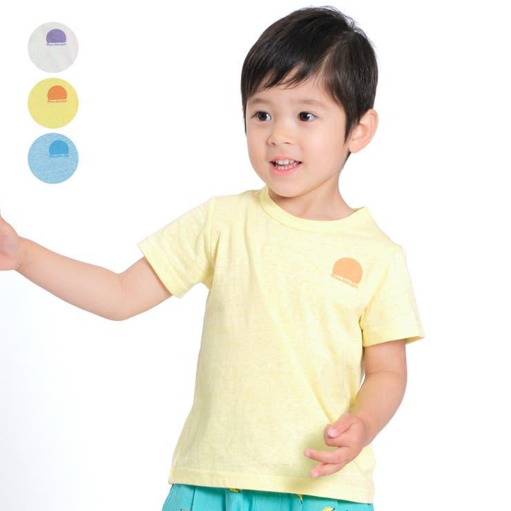 【子供服】moujonjon(ムージョンジョン)バックプリントTシャツ80cm~130cmM34841 | 詳細画像