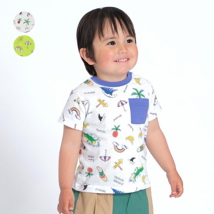 【子供服】moujonjon(ムージョンジョン)日本製夏モチーフ柄Tシャツ80cm~120cmM34846 | 詳細画像